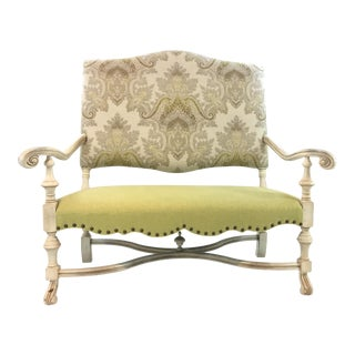 Currey & Co. French Country Windsor Settee For Sale