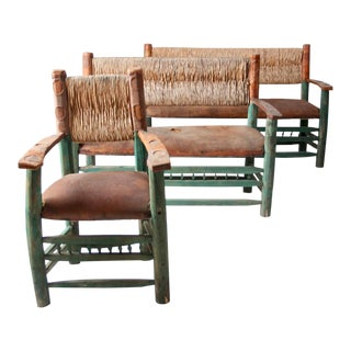 Vintage Hacienda Seating - Set of 3 For Sale