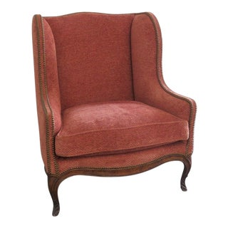 Louis XV Style Wing Chair For Sale