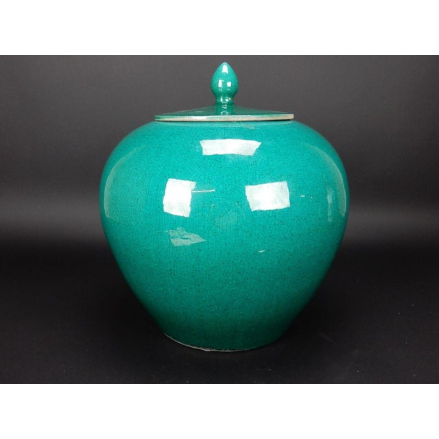 Chinese Crackle Glazed Ginger Jar - Image 2 of 11