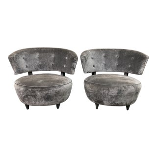Gilbert Rohde Art Deco Slipper Chairs - A Pair For Sale