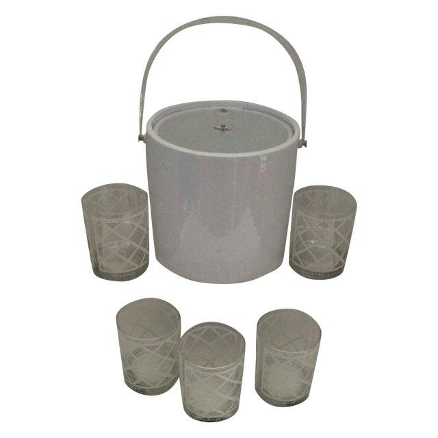 Georges Briard Mid-Century Ice Bucket & Glasses - Image 1 of 6