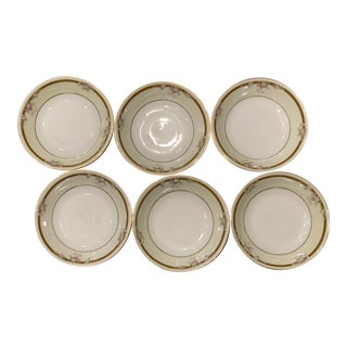 1940s PT Tirschenreuth Madison 8101 Bavaria China Fruit / Dessert Bowls - Set of 6 For Sale