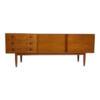 Mid Century Teak Credenza or Media Console by a.h McIntosh For Sale
