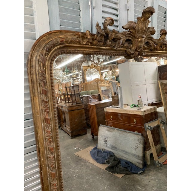 Late 18th Century 18th Century Grand Louis Philippe Mirror For Sale - Image 5 of 8