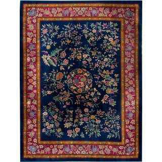"Apadana - Antique Chinese Art Deco Rug 8'11"" x 11'9"" For Sale"