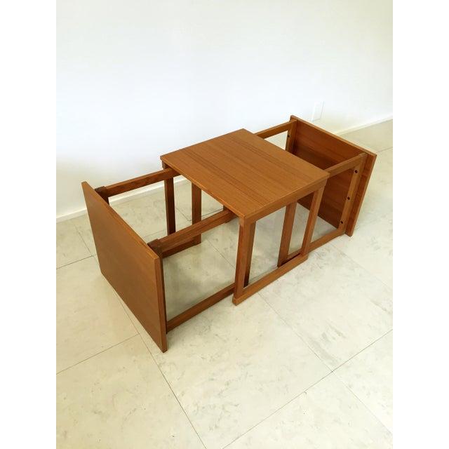 Kai Kristiansen Teak Nesting Tables - Set of 3 For Sale - Image 7 of 9