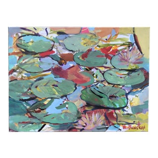 """""""Abstract Lily Pads"""" Original Painting by Mary Houston For Sale"""