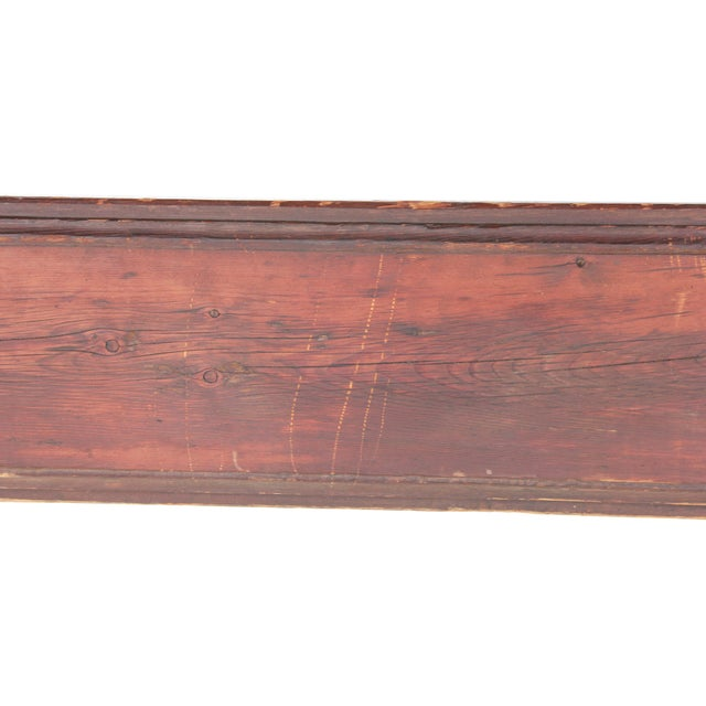 Antique Country Pine Farm Table For Sale - Image 11 of 13