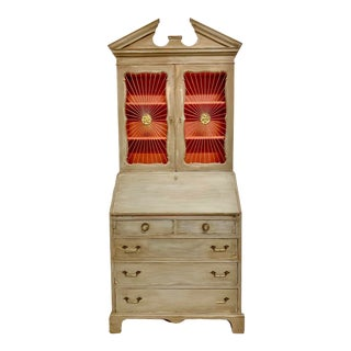John Widdicomb Sunburst Front Secretary Desk For Sale