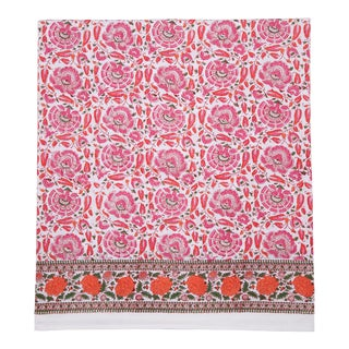 Riyad Fitted Sheet, King - Pink & Orange For Sale