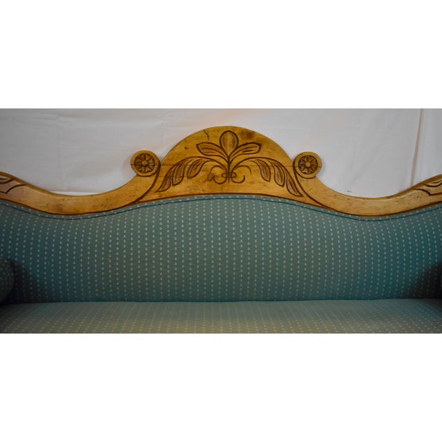 Wood Late 19th Century Irish Pine Camelback Settee For Sale - Image 7 of 13
