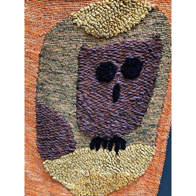 1950s Giant Hand-Loomed Polynesian Abstract Tapestry For Sale - Image 4 of 9