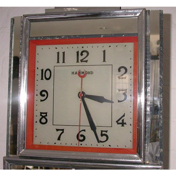Deco Electric Wall Clock For Sale - Image 4 of 7
