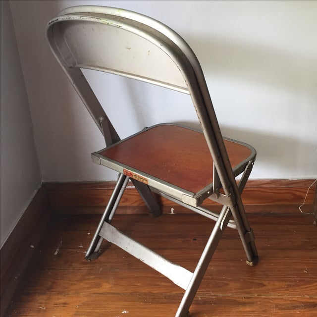 Vintage Metal School Photo Child's Chair For Sale In Atlanta - Image 6 of 8