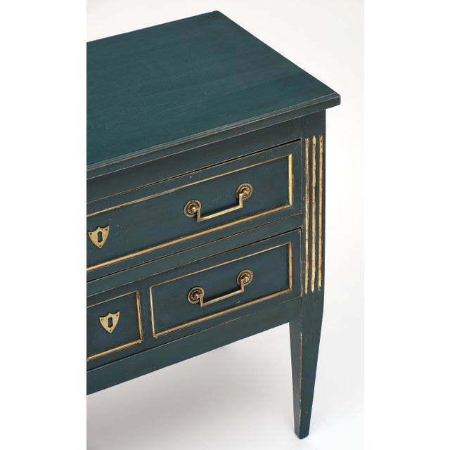 Antique French Louis XVI Style Painted Walnut Chest For Sale - Image 4 of 9
