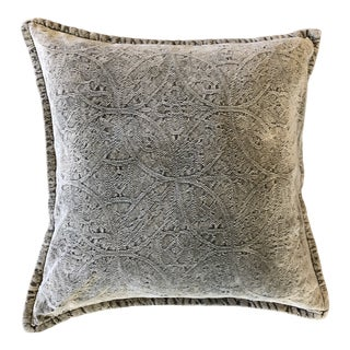 Pottery Barn Chenille Jacquard Pillow Cover For Sale
