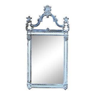 Antique Italian Baroque Silvered Mirror For Sale
