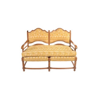 Vintage Vignola Upholstered Accent Bench For Sale