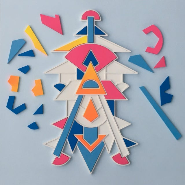 Artist Proof Puzzle x Chad Wentzel MADE YEAR: 2018 MADE IN: Detroit, MI Lazer cut birch, hand painted geometric puzzles....