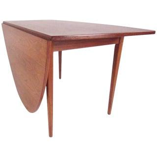 Vintage Scandinavian Modern Drop-Leaf Table For Sale