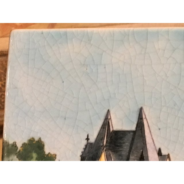 French Longwy French Hand Painted & Signed Tile For Sale - Image 3 of 13