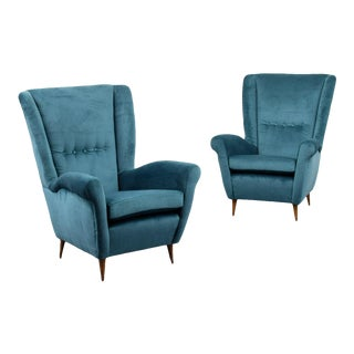 Vintage Gio Ponti Model 512 Chairs - a Pair For Sale