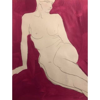 Reclining Female Nude by James Bone 1990s For Sale