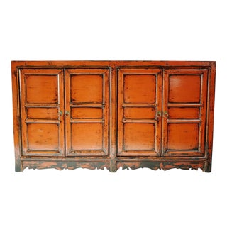 Antiqued Orange Sideboard