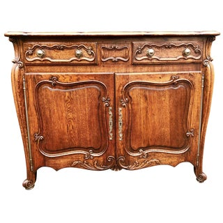 19th Century Louis XV Style French Oak Buffet or Enfilade For Sale