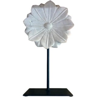 Indian Large Marble Flower on a Stand