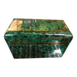 1970s Vintage Maitland - Smith Faux Malachite Box For Sale