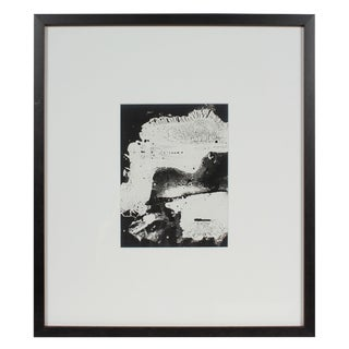 1969 American Modern Monochromatic Framed Black and White Photograph For Sale