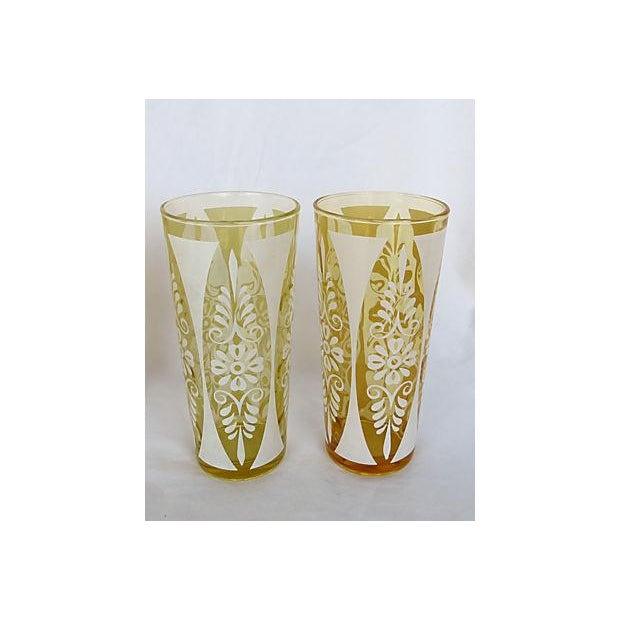 1960s Golden Amber Tumblers - Set of Six - Image 3 of 5