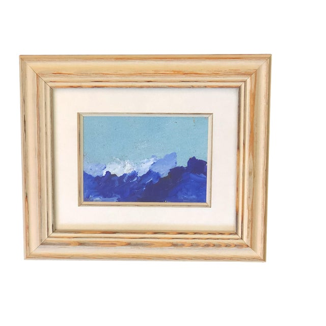 """Yjr Acrylic on Paper Framed Landscape 11"""" by 13"""" For Sale"""