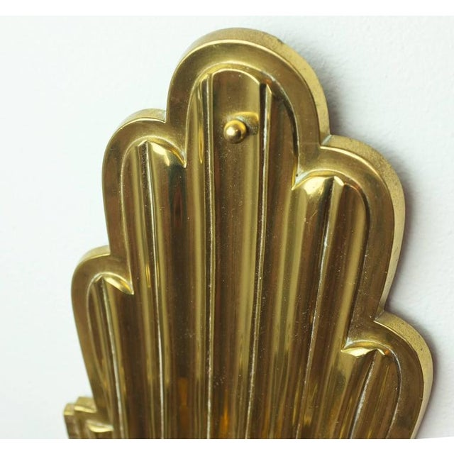 Swedish Grace Brass Sconces - A Pair - Image 4 of 6