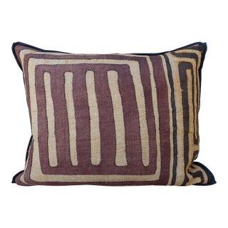 Large Rectangular African Kuba Cloth Pillow