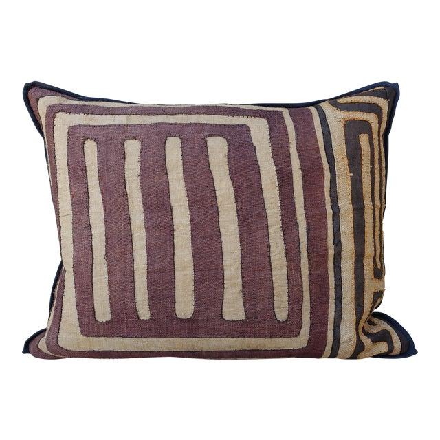 Large Rectangular African Kuba Cloth Pillow For Sale
