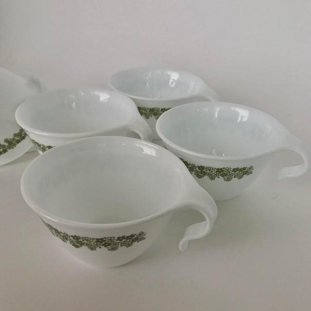 Pyrex Crazy Daisy Tea Cups - Set of 6 | Chairish