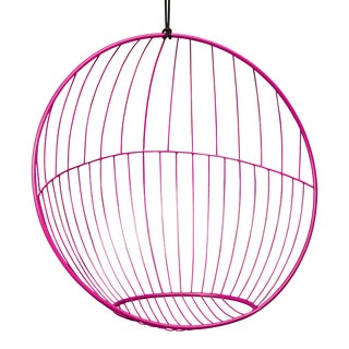Bubble Hanging Chair - Half and Half Pattern - Pink For Sale