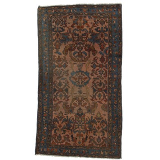 "RugsinDallas Persian Hamadan Hand-Knotted Wool Rug - 3'1"" X 6' For Sale"