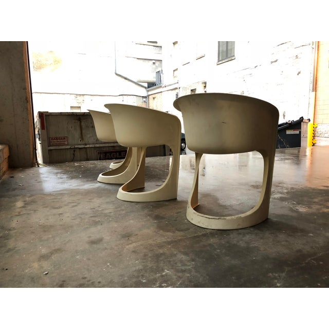 Cado by Steen Ostergaard Mid Century Danish Modern Molded Plastic Stacking Dining Chairs - Set of 4 - Image 6 of 7