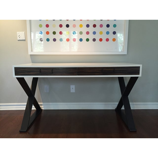 Lawson Fenning Black Steel & Wood Desk - Image 2 of 6