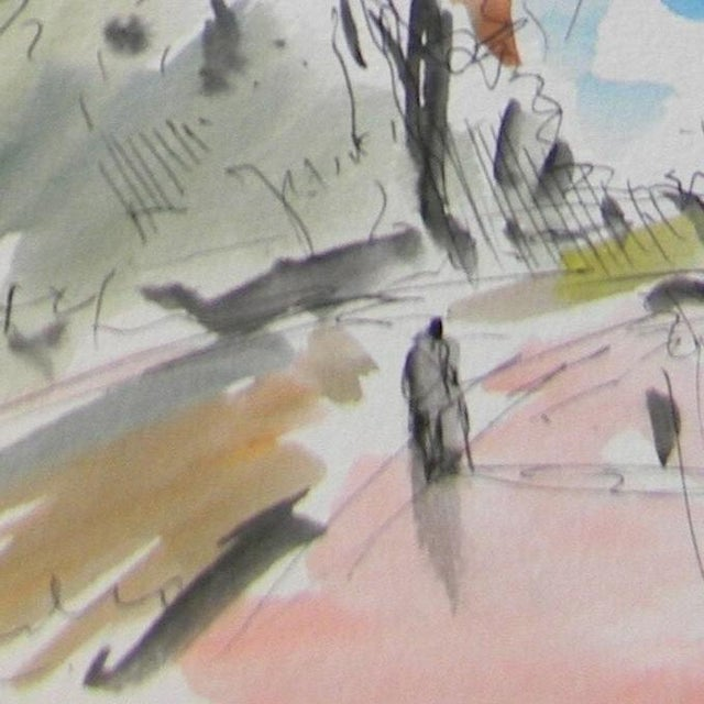 Contemporary Jose Trujillo Signed Watercolor on Paper Painting For Sale - Image 4 of 4