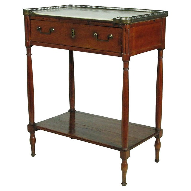19th directoire side table chairish for Table th width ignored