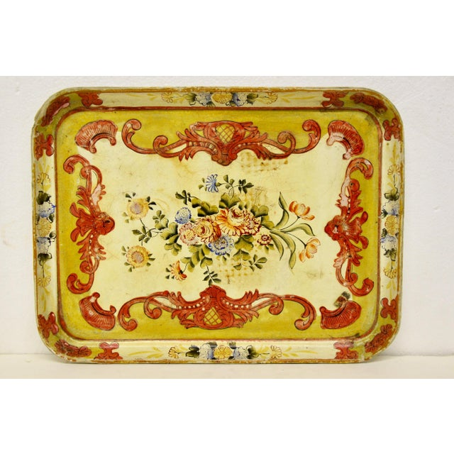 Paint 1940s Occupied Japan Papier Mache Tray For Sale - Image 7 of 7