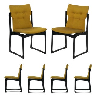 Vintage Set of Six Danish Mid Century Modern Dining Chairs by Stolefabrik For Sale