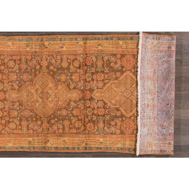 "Islamic Vintage Persian Hamadan Rug, 3'7"" x 10'10"" For Sale - Image 3 of 5"