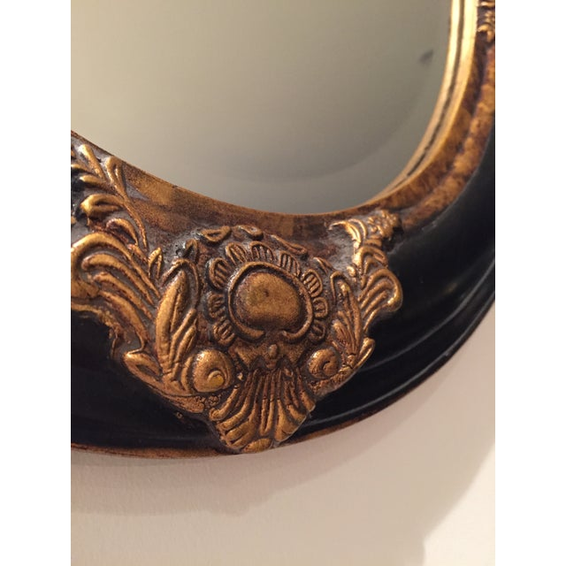 Beveled Black & Gilded Mirror - Image 6 of 8