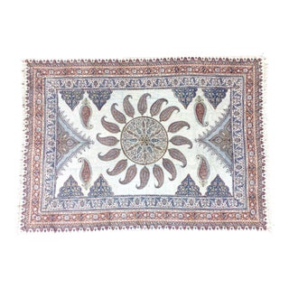 Paisley Fabric Textile with Center Medallion For Sale